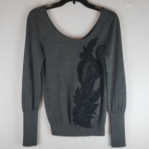 ANTHROPOLOGIE Angel Of the North Scoopneck Sweater